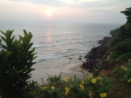 Varkala Beach with staircase to the Cliff