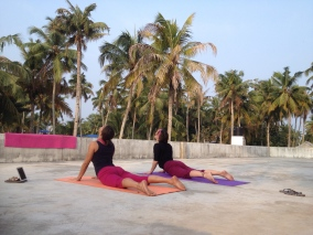 Yoga Class on our rooftop