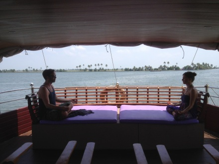 Houseboat trip on the Backwaters