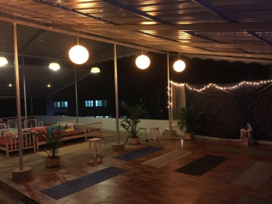 The Rooftop Yoga space