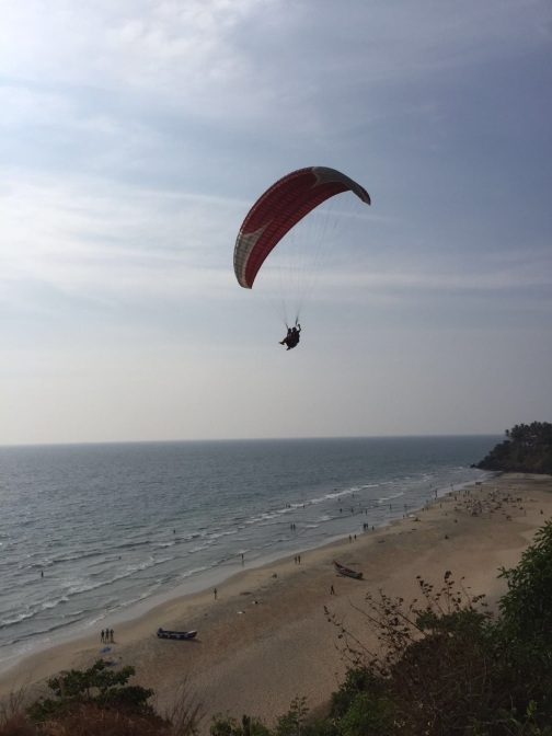 Paragliding at the Cliff